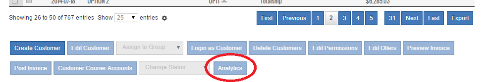 Analytics Button